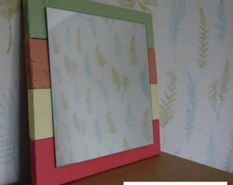 Handmade Rustic Reclaimed Wood Square Wall Mirror