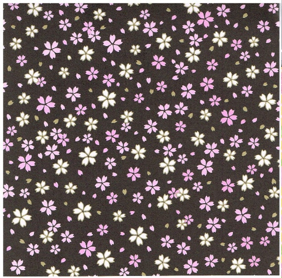 items similar to cherry blossom print japanese origami paper sheets for diy make origami cranes