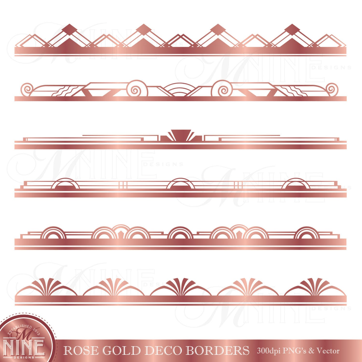 rose gold art deco border clip art art deco clipart borders. Black Bedroom Furniture Sets. Home Design Ideas