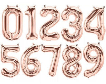 """16"""" Rose Gold, Gold, or Silver Number balloons//Birthday//Party//Birthday decor"""