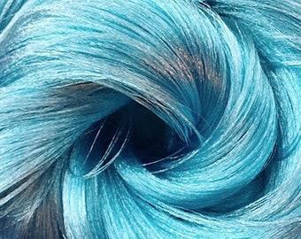 Blue Steel Kiwi Nylon Doll Hair