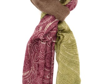 Paisley Print Scarf ⊿ Wedding Scarf ⊿ Extra long scarf ⊿ Abstract scarf ⊿ Christmas Gift ⊿ Wife Gift ⊿ Birthday Gift ⊿