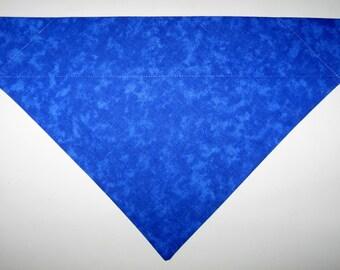 Blue Dog Bandana Scarf – Double Sided/Slide over Collar – Size Small, Medium, Large, X-Large