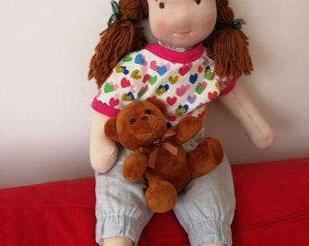 waldorf doll - inspired doll Jasmine, 21inch, 53cm, soft doll, natural doll, toddler, bamboletta, toddler gift