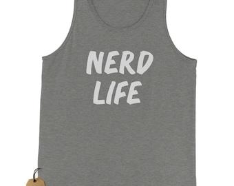 Nerd vida Nerd vida camiseta Tank Top para hombres