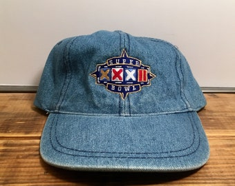 Vintage Super Bowl 32 Denim NFL Hat Luna Pier