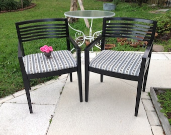 """KNOLL RICCHIO CHAIRS / Pair of labeled Knoll Arm Chairs / 32.5"""" tall x 22"""" wide x 24"""" deep / Knoll Mid Century Modern style Retro Daisy Girl"""