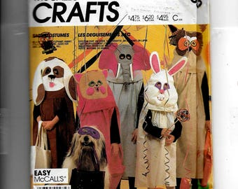 McCall's Children's Boys' and Girls' Animal Costumes Pattern 2150