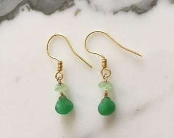 Kelly Green Drop Earrings