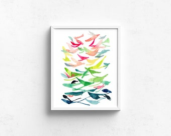 Abstract Watercolor Art Giclee Print - Spring Is In the Air