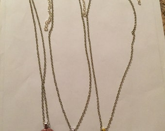 Glittery Smiley Face Necklaces!