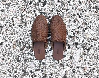 The Mia handmade woven leather loafer