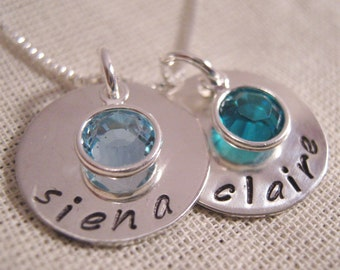 Sweethearts Mothers necklace -  personalized jewelry - Mothers Birthstone Necklace