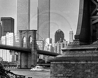 Twin Towers, Brooklyn Bridge, New York City, NYC