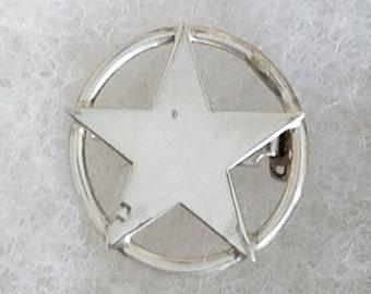 Sterling silver star pin