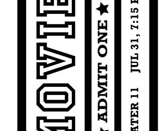 Movie Ticket .SVG file for vinyl cutting