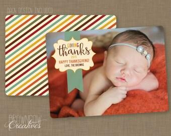 PRINTABLE Thanksgiving Photo Card