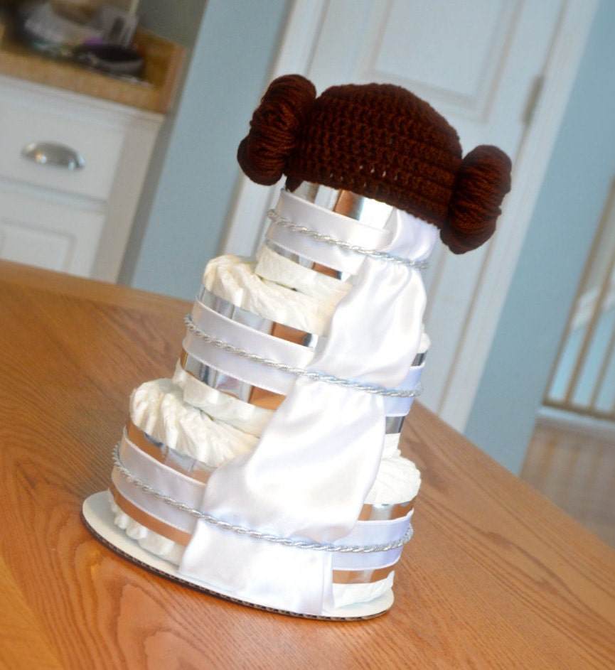 Star Wars Inspired Baby Shower Princess Leia Diaper Cake