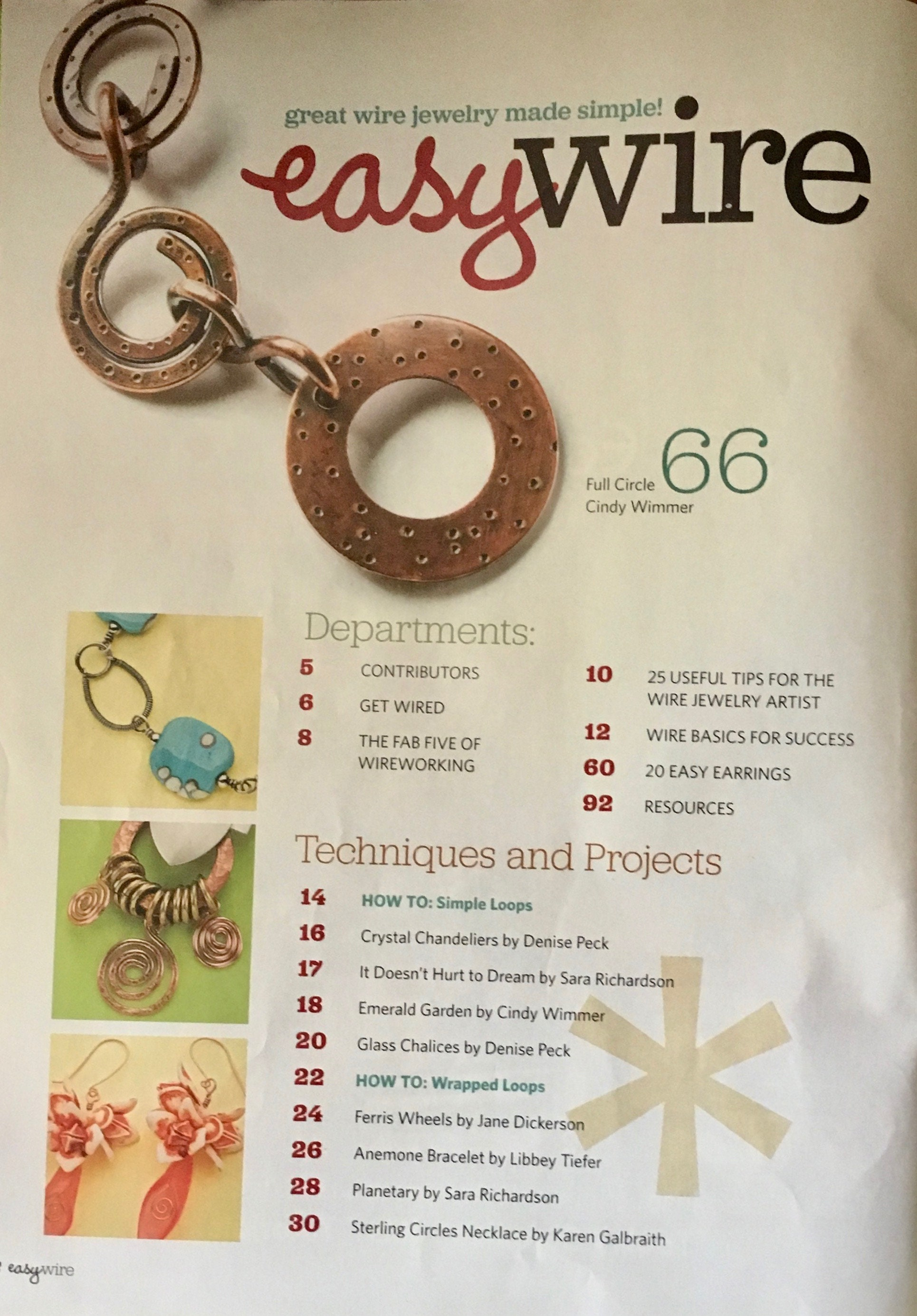 ON SALE Easy Wire Magazine 50 Plus New and Hot Wire Jewelry Designs ...