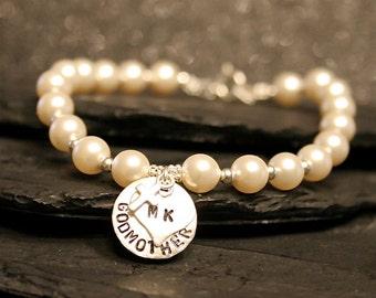 The Classic Godmother - Pearl and Stering Silver Bracelet