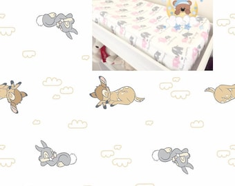 Flannel Disney Bambi Changing Pad Cover Boy Girl Nursery Accessories Contoured Changing Pad Cover 100% Cotton Cover Flannel Modern Nursery