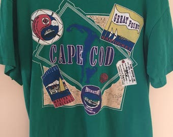 Cap Cod 90s t-shirt. Provincetown Marthas Vineyard. Urban outfitters