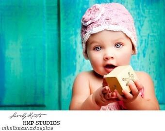 Crochet Baby Hat, Baby Girl Hat, Newborn Beanie, Baby Newborn Hat, Baby Girl Beanie, Pink White, Newborn Baby Hat, Crochet Hat, Newborn Prop