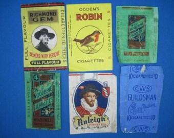 Lot 17 – 6 vintage paper pack fronts