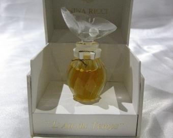 RARE Vintage Nina Ricci L'Air Du Temps Pure Parfum Lalique Dove Bottle