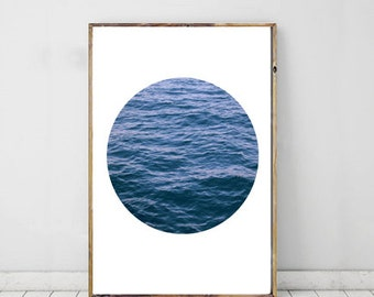 Ocean Photography, Fine Art Photography, Modern Minimalist, Blue Photography, Printable Art, Wall Decor, Modern Photography Art, Ocean Print