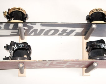 Snowboard Wall Rack Mount -- Holds 2 Boards