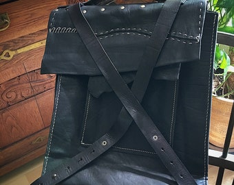 Black design backpack