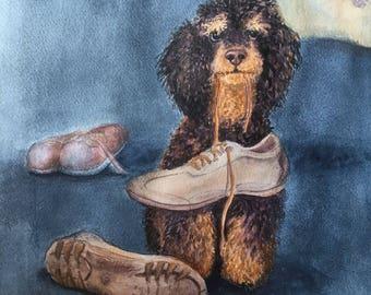 Custom Original Art painted pet portrait in Watercolour from your photographs. Pet Portrait, Original Painting, Gift Art. Pet memorial.