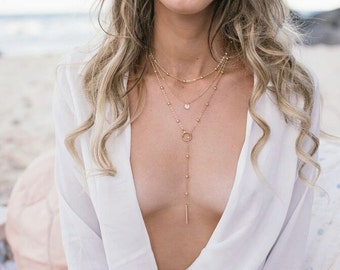 Mila - Gold Triple Layer Necklace