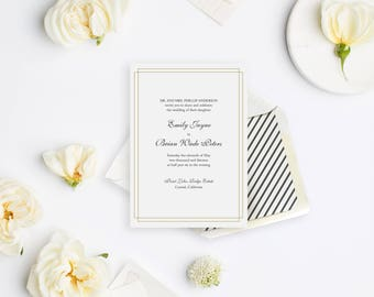 Wedding Invitation Sample - The Carmel Suite