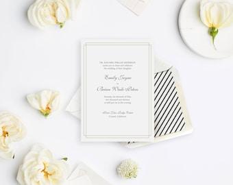 Wedding Invitation Sample - The Carmel Suite