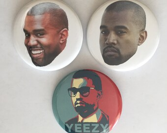 Kanye Pinback Button