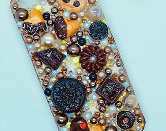 Super Chocolatey Decoden iPhone 5 case