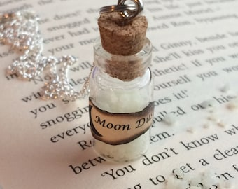 Glow-in-the-Dark Moon Dust Necklace / Pendant / Bookmark / Earrings / Decoration / Keyring