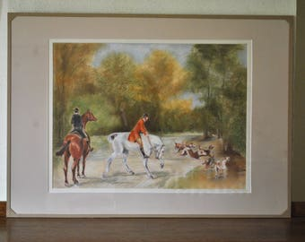 Painting of a hunting scene.