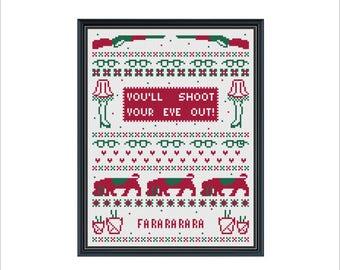 Christmas Story Cross Stitch Sampler