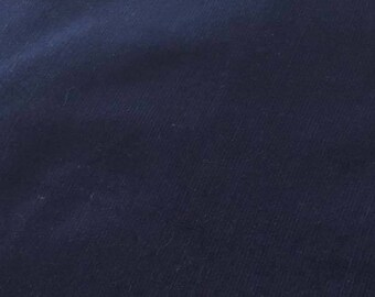 "SALE Navy Featherwale Corduroy Fabric  --  58"" Wide"