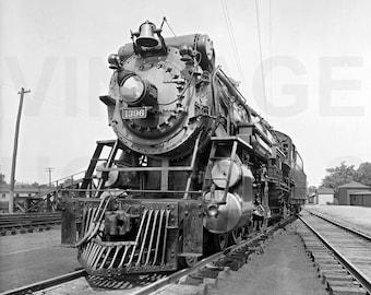 Vintage Photo Souther Railroad Crescent Locomotive Train Photo