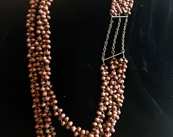 "Vintage Seed Beads Necklace 40"" Length"