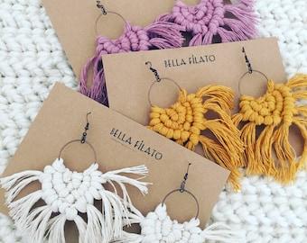 Macrame earrings // Boho earrings