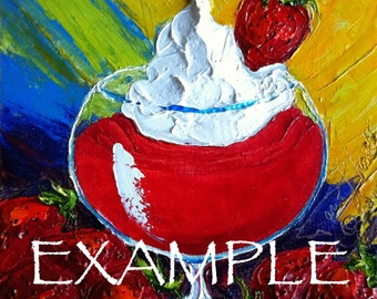 Custom Order for 8x8 Mixed Drink Original Impasto Oil Painting by Paris Wyatt Llanso