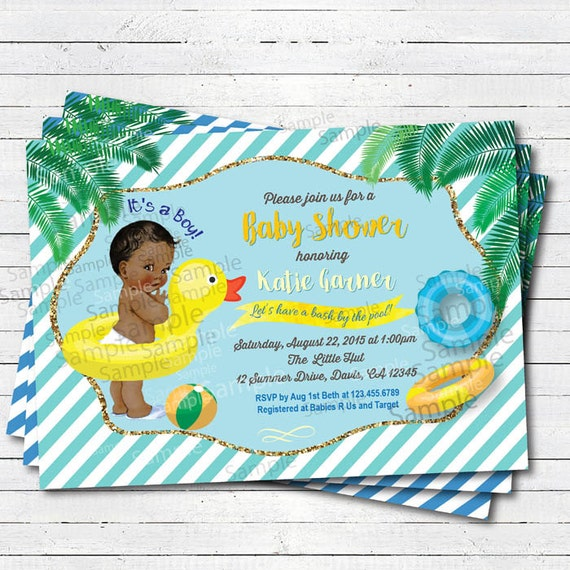 Pool party baby shower invitation summer tropical pool party filmwisefo