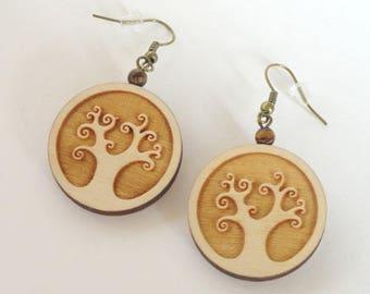 earring no 1 - tree of life