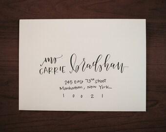Custom Modern Calligraphy Envelope Addressing