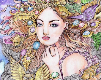 Encantada Collection Adult Coloring Book by Mardel Rubio - Full PDF